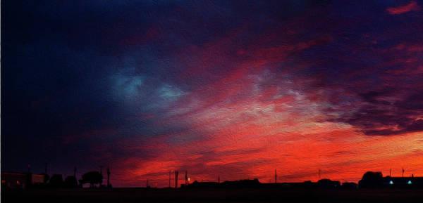 Wall Art - Photograph - Blazing Sunset A by Felipe Gomez
