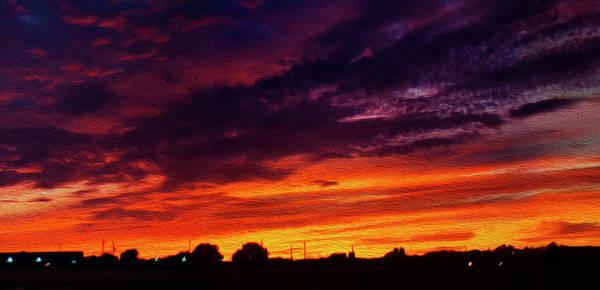 Wall Art - Photograph - Blazing Sunset B by Felipe Gomez
