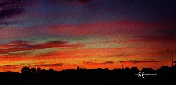 Wall Art - Photograph - Blazing Sunset C by Felipe Gomez