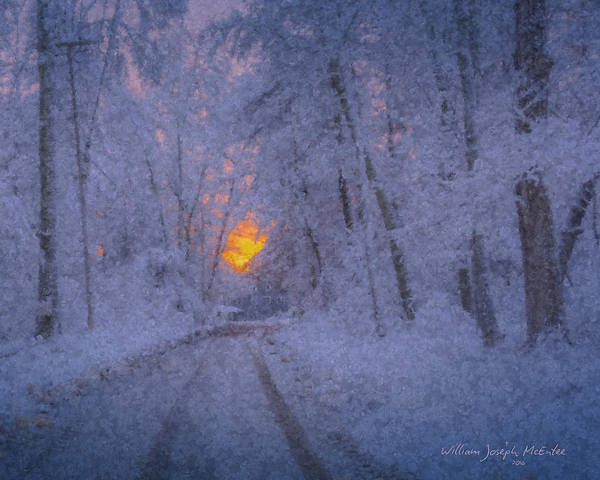 Painting - Blazing Sunset At Snowstorm's End by Bill McEntee