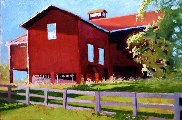 Wall Art - Painting - Bleak House Barn No. 3 by Catherine Twomey