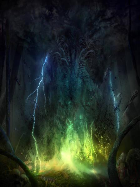 Wall Art - Mixed Media - Bleak Swamp by Philip Straub