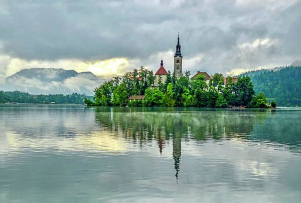 Photograph - Bled At Sunrise by Shannon Kelly