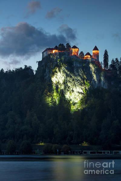 Wall Art - Photograph - Bled Castle Twilight by Brian Jannsen