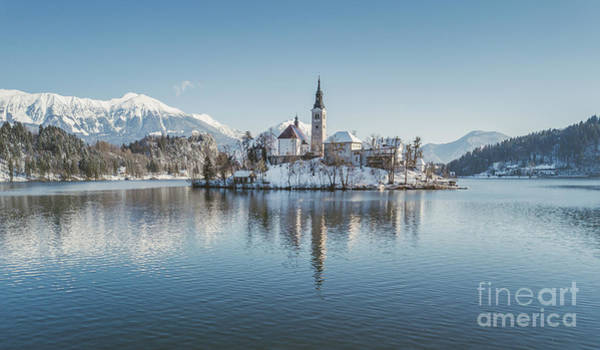 Wall Art - Photograph - Bled Island Winter Dreams by JR Photography