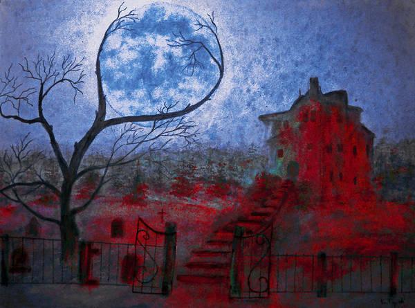 Apparition Digital Art - Bleeding House by Ken Figurski