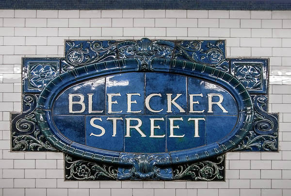 Photograph - Bleeker Street Station by S Paul Sahm