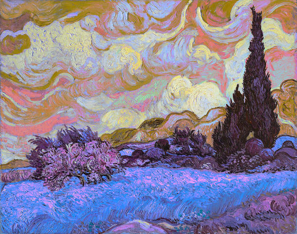 Digital Art - Blend 20 Van Gogh by David Bridburg