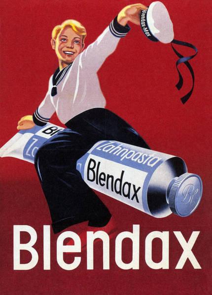 Product Mixed Media - Blendaz Zahnpasta - Toothpaste - Vintage Advertising Poster by Studio Grafiikka
