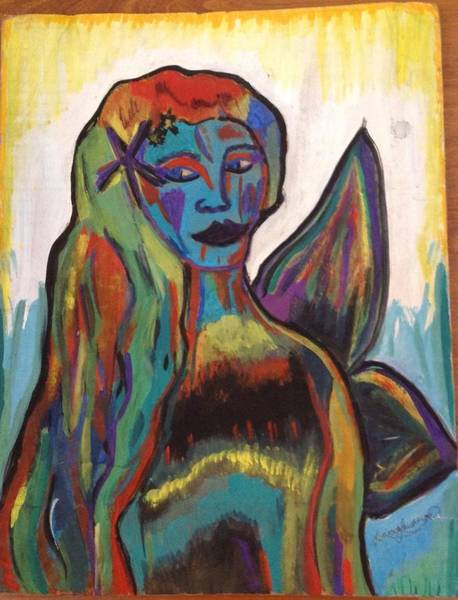 Recycling Painting - Blended Mermaid  by Vanessa Lawrence