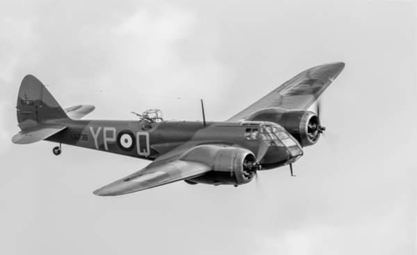 Photograph - Blenheim Mk I Black And White Version by Gary Eason