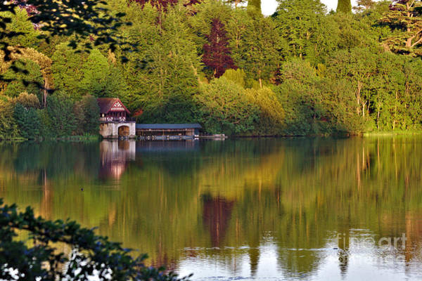 Photograph - Blenheim Palace Boathouse 2 by Jeremy Hayden
