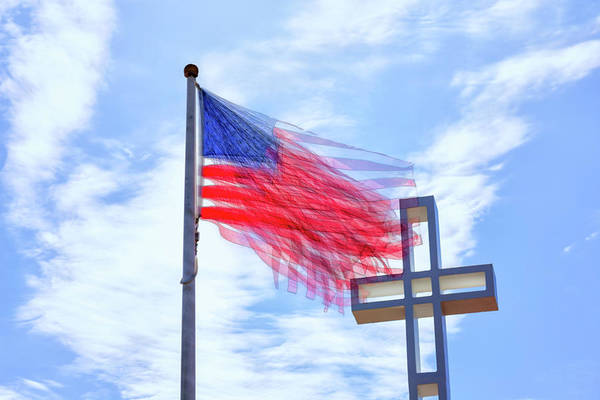 Mount Soledad Wall Art - Photograph - Bless The Usa by Joseph S Giacalone