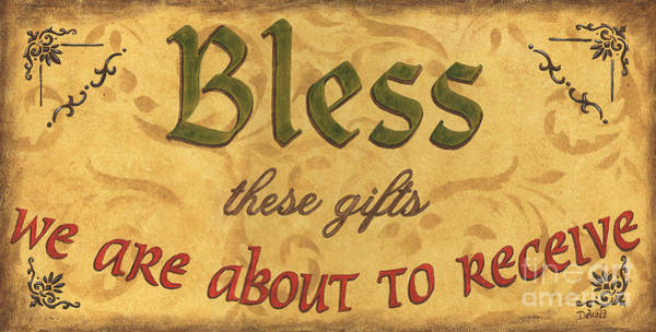 Grace Painting - Bless These Gifts by Debbie DeWitt