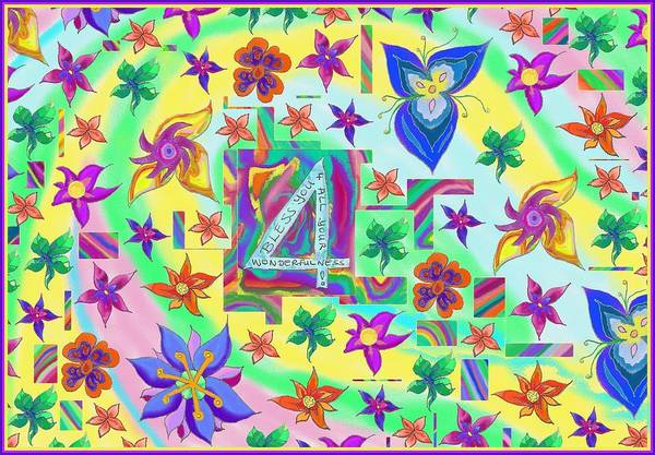 Drawing - Bless You 4 Your Wonderfulness by Julia Woodman
