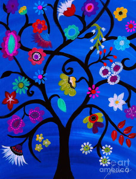 Painting - Blessed Tree Of Life by Pristine Cartera Turkus