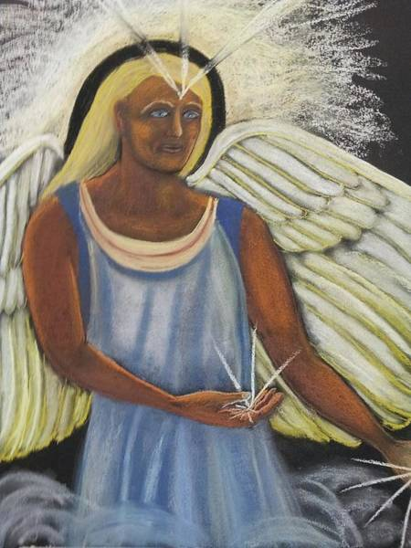 Wall Art - Pastel - Blessing From An Angel by Janne Henn