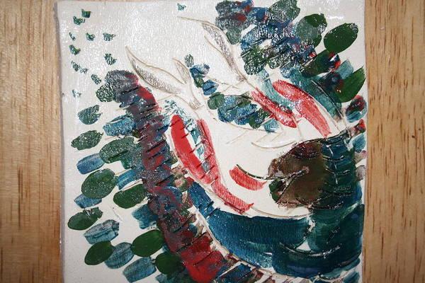 Ceramic Art - Blessings - Tile by Gloria Ssali