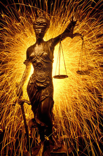 Sparks Wall Art - Photograph - Blind Justice  by Garry Gay