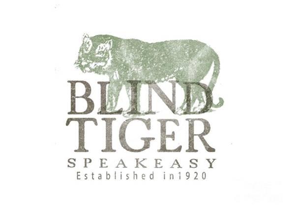 Sweatshirt Wall Art - Digital Art - Blind Tiger Speakeasy Tee by Edward Fielding
