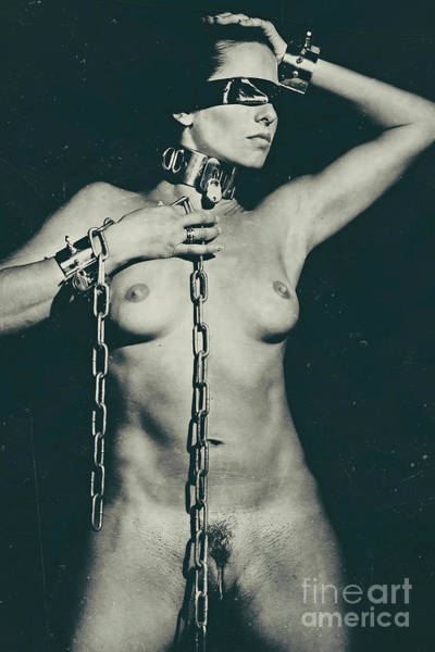 Photograph - Blindfolded And Cuffed by William Langeveld