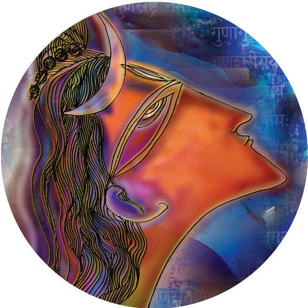 Painting - Bliss Shiva by Guruji Aruneshvar Paris Art Curator Katrin Suter