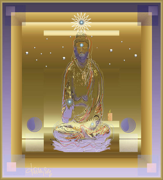 Digital Art - Blissful Buddha by Larry Talley