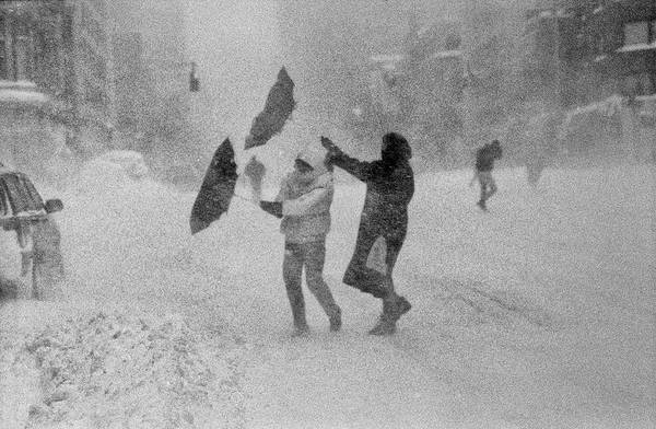 Photograph - Blizzard On Third Avenue by Dave Beckerman