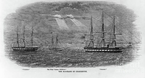 Photograph - Blocade Of Charleston by Dale Powell