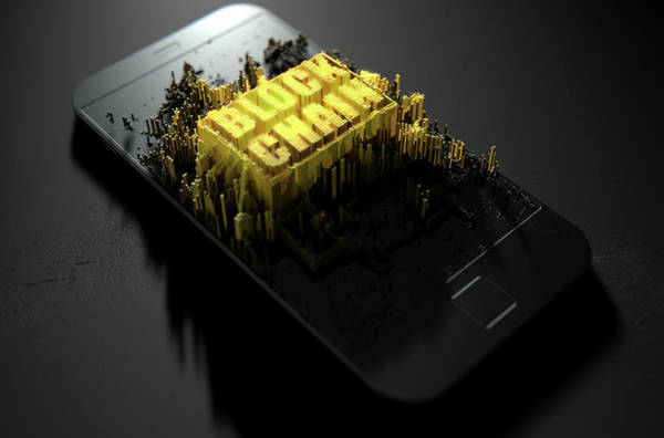 Wall Art - Digital Art - Block Chain Cloner Smartphone by Allan Swart