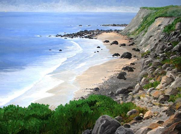 Black Beach Painting - Block Island Beach by Keith Wilkie
