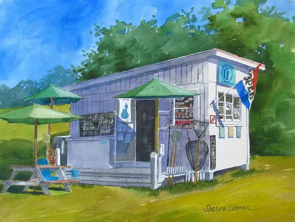Painting - Block Island Fishworks by Sharon Lehman