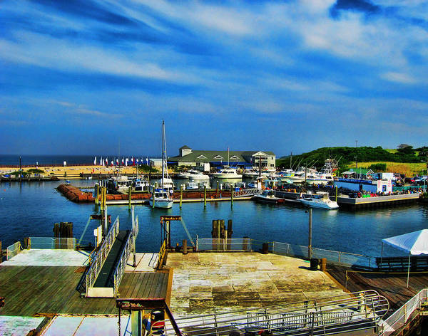 Photograph - Block Island Marina by Lourry Legarde