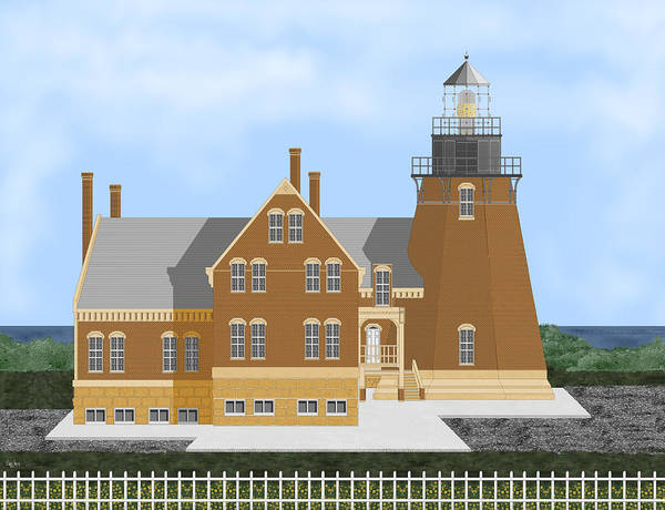 Wall Art - Painting - Block Island South East Rhode Island In Full Color by Anne Norskog