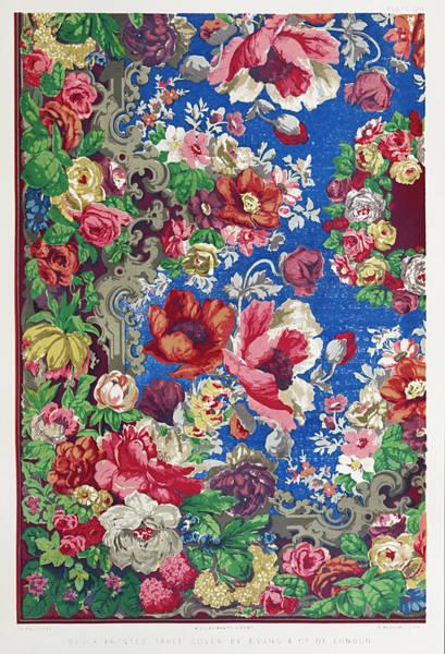 Ir Painting - Block Printed Table Cover by ir Matthew Digby Wyatt