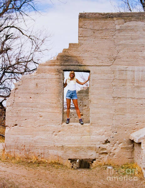 Photograph - Blond Model In A Picture Frame by Steve Krull