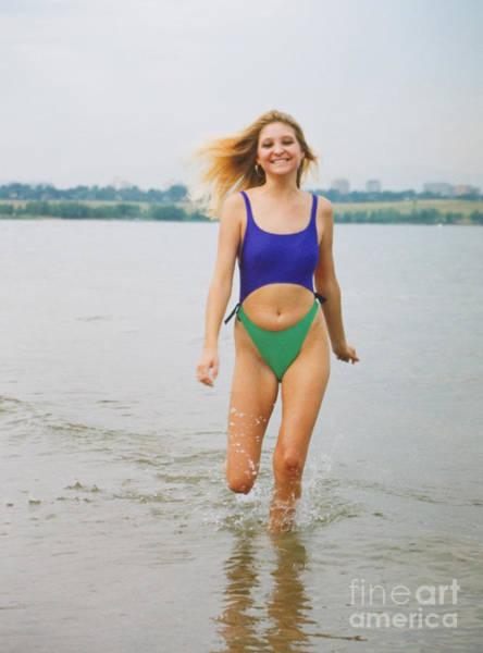 Photograph - Blond Model In Swimsuit by Steve Krull