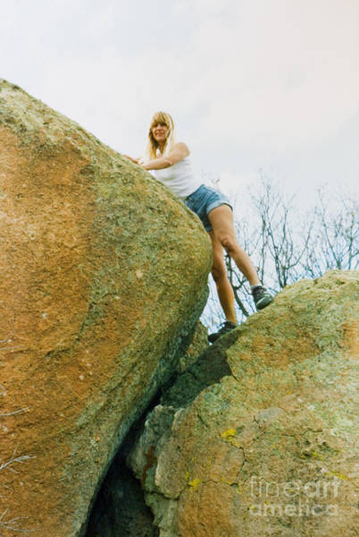 Photograph - Blond Rock Climber by Steve Krull
