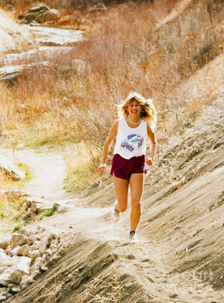 Photograph - Blond Woman Trail Runner by Steve Krull