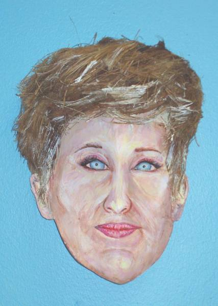 Caricature Mixed Media - Blonde Comedian W Mullet - Do by Ellen Burns