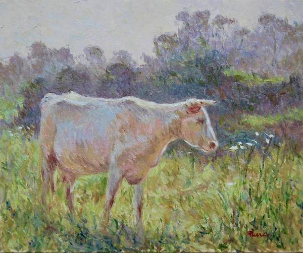 Painting - Blonde D'aquitaine by Pierre Van Dijk
