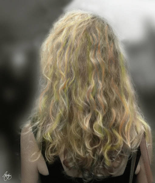 Photograph - Blonde Ringlets by Wayne King