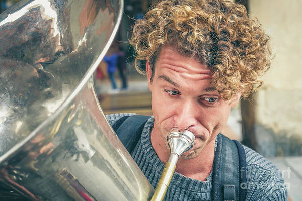 Photograph - Blonde Trombone  by Luca Lorenzelli