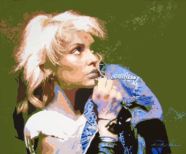 Blondie Wall Art - Painting - Blondie - Debbie Harry by David Lloyd Glover