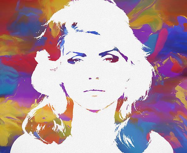 Blondie Wall Art - Painting - Blondie Color Splatter by Dan Sproul