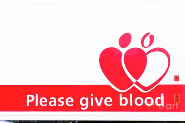 Wall Art - Photograph - Blood Donor Appeal by Tom Gowanlock