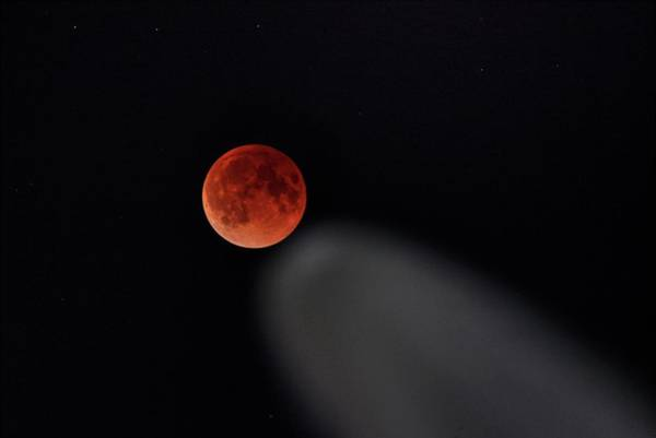 Photograph - Blood Moon Comet by Quality HDR Photography