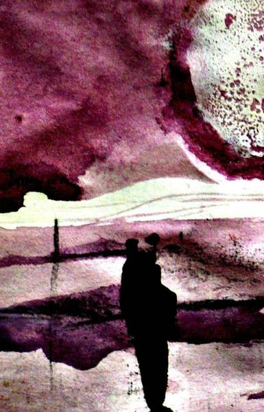 Painting - An Evening In Purple Abstract by 'REA' Gallery