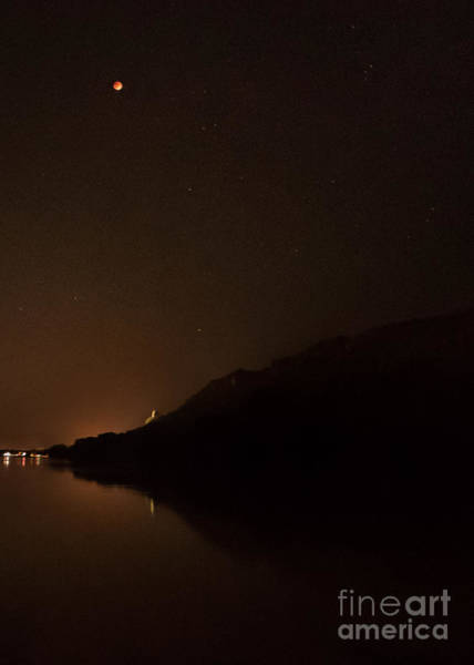Photograph - Blood Moon Over Sugarloaf Winona by Kari Yearous