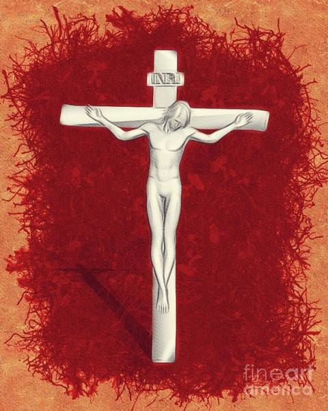 Crucifiction Wall Art - Painting - Blood Of Christ by Pierre Blanchard